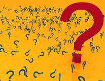 Question mark. Filled with small question mark giant question mark Royalty Free Stock Photo