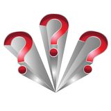 Question mark. S icon vector illustration isolated on white background Royalty Free Stock Images