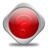 Question mark. Help Concept,3D&Computer generated Royalty Free Stock Photos