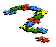 Question mark. Formed with puzzle pieces vector illustration