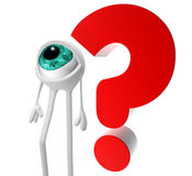 Question mark. And white eye vector illustration