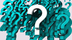 Question mark. 3d image of many question mark vector illustration