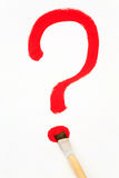 Question mark. Drawn by a brush Royalty Free Stock Photo