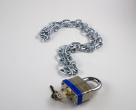 Question mark. Made from chain and lock Royalty Free Stock Photo