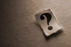 Question Mark. Picture of a question mark Royalty Free Stock Photo