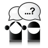 Question mark. Two people with question mark Stock Image