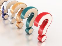 Question mark. On reflective surface, decision and risk concept stock illustration