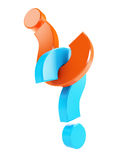 Question mark. On a white background Stock Photo
