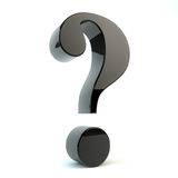 Question mark. Render of a shiny question mark siymbol Stock Image