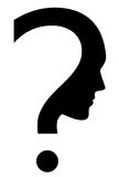 Question mark. Vector icon of question mark with face Stock Photo