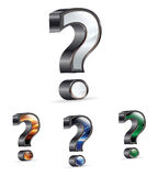 Question Mark. Icon 3D question mark  on white Royalty Free Stock Photos
