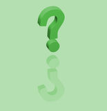 Question mark. 3D-figure with the image of a question mark above a reflecting plane Royalty Free Stock Photos