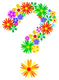 Question Mark. Floral Question Mark Isolated On White Royalty Free Stock Photography