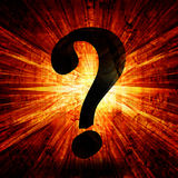 Question mark. On a fire like background Royalty Free Stock Photo