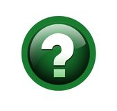 Question mark. Button on isolated background Royalty Free Stock Images