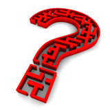 Question Mark. A red question mark maze Stock Photo