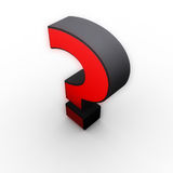 Question mark. Red question mark icon 3d Royalty Free Stock Photography