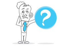 Question mark. Abstract design can be used in many jobs Stock Images