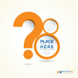Question Mark Abstract Design Layout Stock Photos
