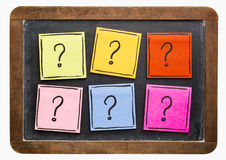 Question mark abstract - sticky note set Royalty Free Stock Photo