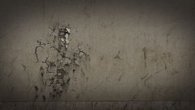Question mark appears on the wall stock footage