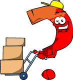 Question mark as delivery man Stock Images