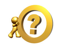 Question mark as information center symbol Stock Photography