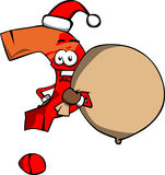 Question mark as Santa Claus with a big sack Stock Photo