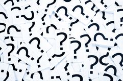 Question mark bacgkround Stock Images