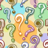 Question Mark Background Image stock