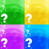 Question-mark background Stock Image