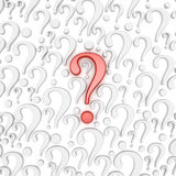 Question mark background. 3d render Stock Images