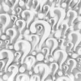 Question mark background. 3d render Royalty Free Stock Photo
