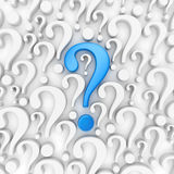 Question mark background. 3d render Royalty Free Stock Photography
