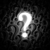 Question mark background. 3d render Stock Photos