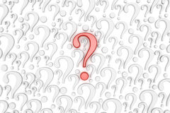 Question mark background. 3d render Stock Photography