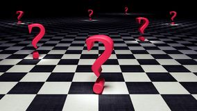 Question mark background 3d render Stock Photos