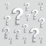 Question mark background Stock Photography
