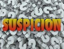 Question Mark Background Wonder Suspect de Word de soupçon illustration de vecteur