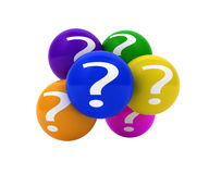 Question mark balls Royalty Free Stock Photos