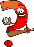 Question mark Baseball Batter Royalty Free Stock Photo