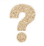 The question mark from beach sand Royalty Free Stock Photography