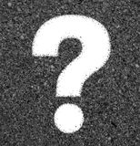 The question mark from beach sand Royalty Free Stock Photos