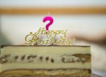 Question Mark Birthday Candle photographie stock libre de droits