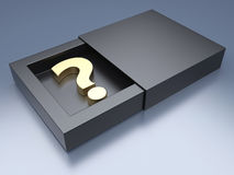 Question mark in black box Stock Photography