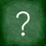 Question mark blackboard stock images