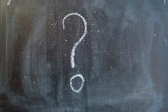 Question mark on a blackboard Stock Image