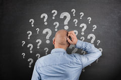 Question Mark on Blackboard Royalty Free Stock Photos