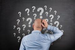 Question Mark on Blackboard royalty free stock photos