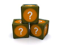 Question mark blocks Royalty Free Stock Images